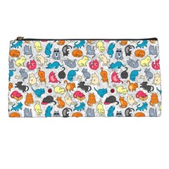 Funny Cute Colorful Cats Pattern Pencil Cases by EDDArt
