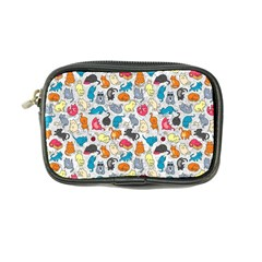 Funny Cute Colorful Cats Pattern Coin Purse by EDDArt
