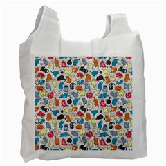 Funny Cute Colorful Cats Pattern Recycle Bag (one Side) by EDDArt