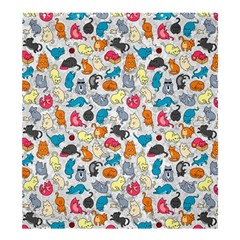 Funny Cute Colorful Cats Pattern Shower Curtain 66  X 72  (large)  by EDDArt