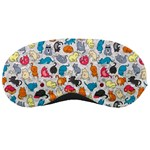 Funny Cute Colorful Cats Pattern Sleeping Masks Front