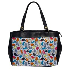 Funny Cute Colorful Cats Pattern Office Handbags