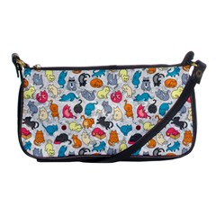Funny Cute Colorful Cats Pattern Shoulder Clutch Bags by EDDArt