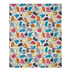 Funny Cute Colorful Cats Pattern Shower Curtain 60  X 72  (medium)  by EDDArt