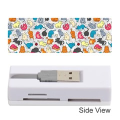 Funny Cute Colorful Cats Pattern Memory Card Reader (stick) by EDDArt