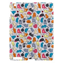 Funny Cute Colorful Cats Pattern Apple Ipad 3/4 Hardshell Case by EDDArt