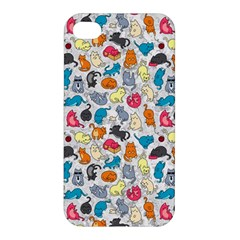 Funny Cute Colorful Cats Pattern Apple Iphone 4/4s Premium Hardshell Case