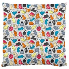 Funny Cute Colorful Cats Pattern Large Cushion Case (two Sides)