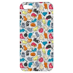 Funny Cute Colorful Cats Pattern Apple Iphone 5 Hardshell Case by EDDArt