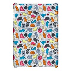 Funny Cute Colorful Cats Pattern Apple Ipad Mini Hardshell Case by EDDArt