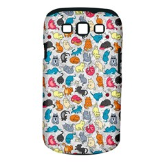 Funny Cute Colorful Cats Pattern Samsung Galaxy S Iii Classic Hardshell Case (pc+silicone) by EDDArt