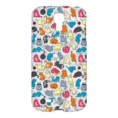 Funny Cute Colorful Cats Pattern Samsung Galaxy S4 I9500/i9505 Hardshell Case by EDDArt