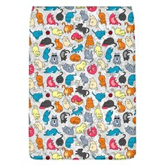 Funny Cute Colorful Cats Pattern Flap Covers (l)  by EDDArt