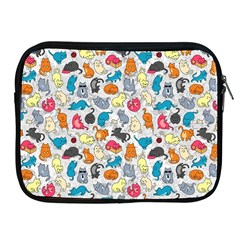 Funny Cute Colorful Cats Pattern Apple Ipad 2/3/4 Zipper Cases by EDDArt