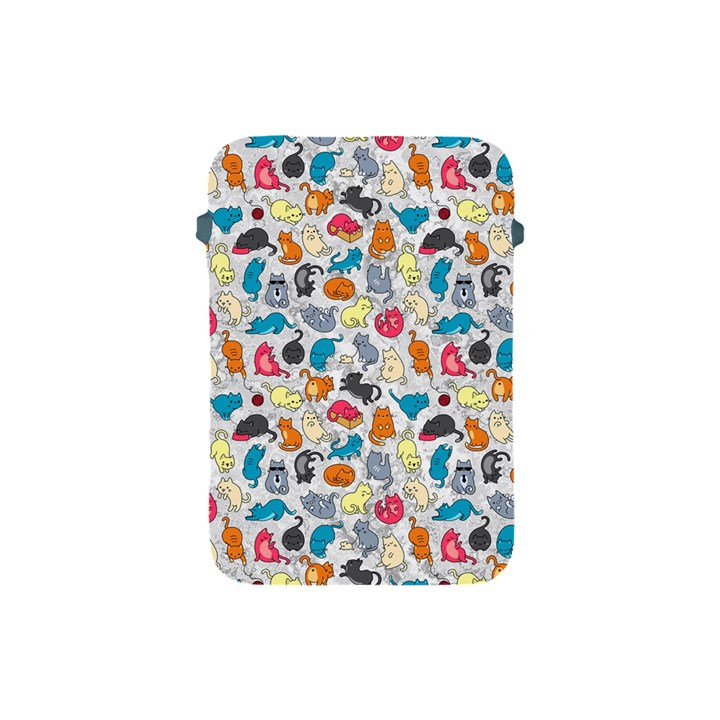 Funny Cute Colorful Cats Pattern Apple iPad Mini Protective Soft Cases