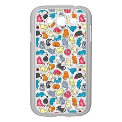 Funny Cute Colorful Cats Pattern Samsung Galaxy Grand Duos I9082 Case (white) by EDDArt