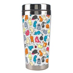 Funny Cute Colorful Cats Pattern Stainless Steel Travel Tumblers by EDDArt