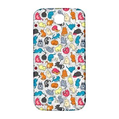 Funny Cute Colorful Cats Pattern Samsung Galaxy S4 I9500/i9505  Hardshell Back Case by EDDArt