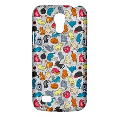 Funny Cute Colorful Cats Pattern Samsung Galaxy S4 Mini (gt I9190) Hardshell Case  by EDDArt