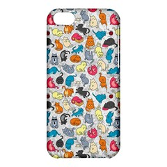 Funny Cute Colorful Cats Pattern Apple Iphone 5c Hardshell Case by EDDArt