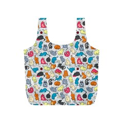 Funny Cute Colorful Cats Pattern Full Print Recycle Bags (s)  by EDDArt