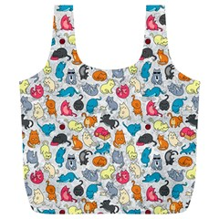 Funny Cute Colorful Cats Pattern Full Print Recycle Bags (l)  by EDDArt