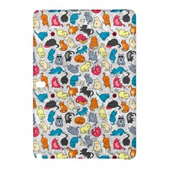 Funny Cute Colorful Cats Pattern Samsung Galaxy Tab Pro 12 2 Hardshell Case by EDDArt