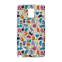 Funny Cute Colorful Cats Pattern Samsung Galaxy Note 4 Hardshell Case