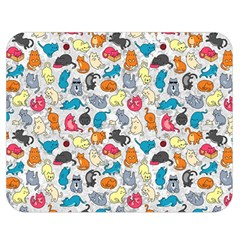 Funny Cute Colorful Cats Pattern Double Sided Flano Blanket (medium)