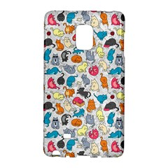 Funny Cute Colorful Cats Pattern Samsung Galaxy Note Edge Hardshell Case