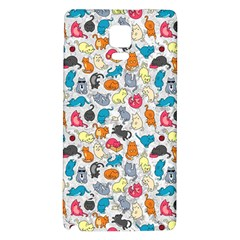 Funny Cute Colorful Cats Pattern Samsung Note 4 Hardshell Back Case