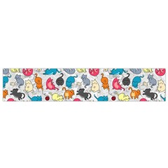 Funny Cute Colorful Cats Pattern Small Flano Scarf
