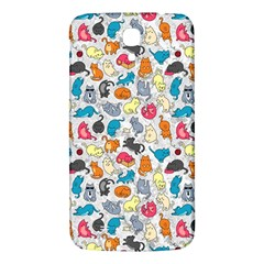 Funny Cute Colorful Cats Pattern Samsung Galaxy Mega I9200 Hardshell Back Case