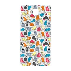 Funny Cute Colorful Cats Pattern Samsung Galaxy Alpha Hardshell Back Case by EDDArt