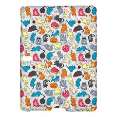Funny Cute Colorful Cats Pattern Samsung Galaxy Tab S (10 5 ) Hardshell Case  by EDDArt