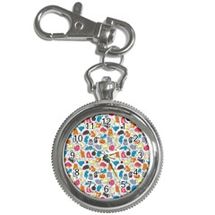 Funny Cute Colorful Cats Pattern Key Chain Watches by EDDArt