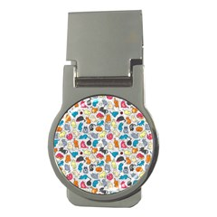 Funny Cute Colorful Cats Pattern Money Clips (round)  by EDDArt