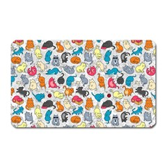 Funny Cute Colorful Cats Pattern Magnet (rectangular) by EDDArt