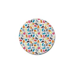 Funny Cute Colorful Cats Pattern Golf Ball Marker (10 Pack) by EDDArt