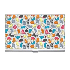 Funny Cute Colorful Cats Pattern Business Card Holders by EDDArt