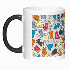 Funny Cute Colorful Cats Pattern Morph Mugs