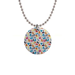 Funny Cute Colorful Cats Pattern Button Necklaces