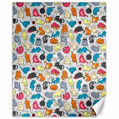Funny Cute Colorful Cats Pattern Canvas 16  X 20   by EDDArt
