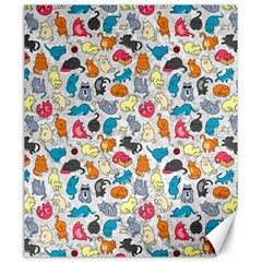 Funny Cute Colorful Cats Pattern Canvas 20  X 24
