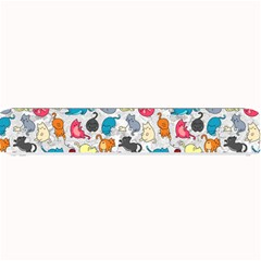 Funny Cute Colorful Cats Pattern Small Bar Mats by EDDArt