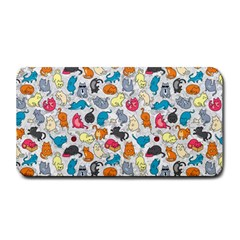 Funny Cute Colorful Cats Pattern Medium Bar Mats