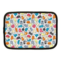 Funny Cute Colorful Cats Pattern Netbook Case (medium)  by EDDArt