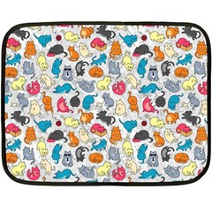 Funny Cute Colorful Cats Pattern Double Sided Fleece Blanket (mini)  by EDDArt