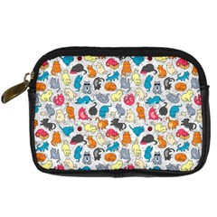 Funny Cute Colorful Cats Pattern Digital Camera Cases by EDDArt