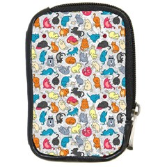 Funny Cute Colorful Cats Pattern Compact Camera Cases